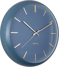 Globe 40cm Silent Wall Clock Karlsson Colour: Dark