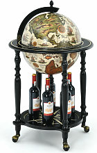 Globe Drink Cabinet Mini Bar Movable Double Deck