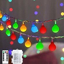 Globe Fairy Lights, 45 ft 80 LED Battery Powered