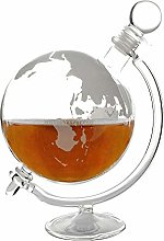 Globe Glass Whisky Decanter with Cradle & Stopper,