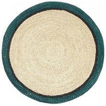 Globe Placemat - / Hand-woven raffia by Maison