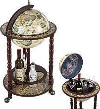 Globe Shaped Mini Wine Bar Drink Cabinet, Movable