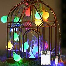 Globe String Lights 2 Lighting Modes, Battery