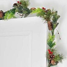GloBrite Christmas Garland 1.8M Fireplace Stair