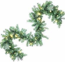 GloBrite Pre Lit Christmas Garland 2.7M 30 LED
