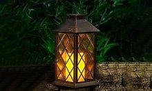 GloBrite Solar Copper-Effect Lantern: One