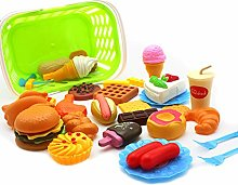 Glomixs 34pcs Fun Play Food Set for Kids Kitchen