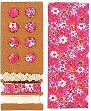 Glorex 68619605Textile Set, Polyester, pink,
