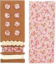 Glorex 68619620Textile Set, Polyester, pink,