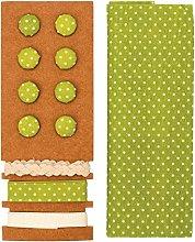 Glorex Textile Set, Polyester, green, 24.5x