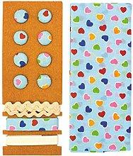 Glorex Textile Set, Polyester, multicoloured,