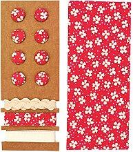 Glorex Textile Set, Red, 24.5x 17.6x 0.5cm