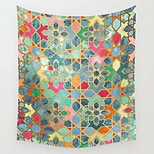 Glory Colorful Moroccan Mosaic Tapestry Wall