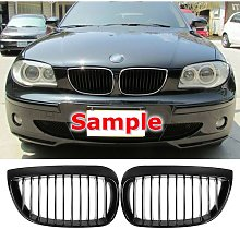 Gloss Black Front Kidney Grille Grill for BMW E81