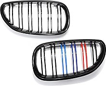 Gloss Black M Color Front Kidney Grill Grille,