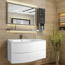 Gloss White Bathroom Vanity Basin Unit Wall Hung