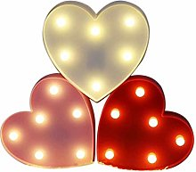 Glossia Light Up Heart Marquee Sign for Wedding