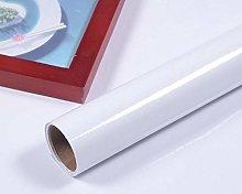 Glossy White DIY Decorative Film Self-Adhesive