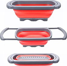 Glotoch Kitchen Collapsible Colander, Over The