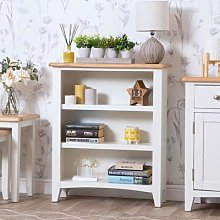 Gloucester White Painted Small Wide Bookcase