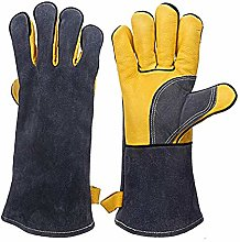 gloves 14 inches 500℃, forged welding cowhide,