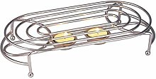 Glow Stylish Food Warmer – Chrome Stand with 2