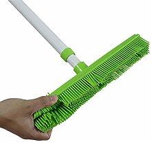 GLOYY Long Handle Rubber Brush Push Broom with