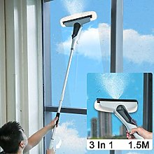 GLXQIJ Long Extending 3-in-1 Window Cleaner