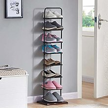 GLYYR Tall Narrow Shoe Rack Storage,8 Tier Layer