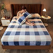 GmanXier Bed Sheet Brushed Bedding Wrinkle, Stain