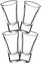 Gmark 2-Oz Shot Glass Set Heavy Base, Whiskey Shot