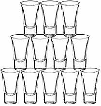 Gmark Heavy Base Shot Glass Set 60ml 2oz, Whiskey