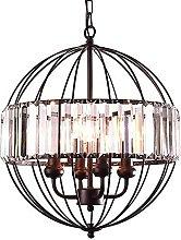 GMLSD Chandelier,Vintage Metal Cage Crystal
