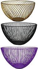 GMMH Fruit Basket, Bread basket, Metal Vase, Gift