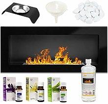GMT - Bioethanol Eco Smokeless Fireplace Black