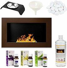 GMT - Bioethanol Eco Smokeless Fireplace Brown