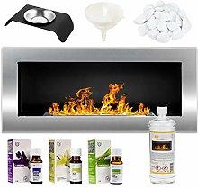 GMT- Bioethanol Eco Smokeless Fireplace Silver