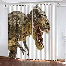GMULMC Blackout Curtains Animal dinosaur pattern