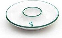 Gmundner ceramic green deer egg cup smooth d: 12 cm