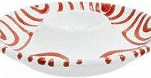 Gmundner ceramic red flamed egg cup smooth 12 cm