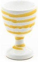 Gmundner ceramic yellow flamed egg cup smooth d: