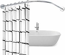 GNCCI Curved Shower Curtain Rod Extendable No