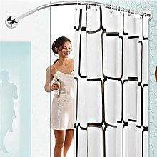 GNCCI L Shape Extendable Shower Curtain Rod Curved