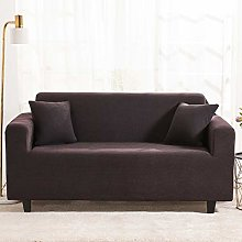 GNEHSL Printed Sofa Cover - Coffee Modern Solid