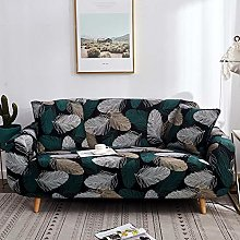 GNEHSL Printed Sofa Cover - White Line Feathers 3D