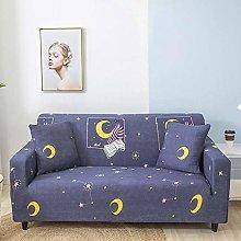 GNEHSL Printed Sofa Cover - Yellow Cute Moon 3D