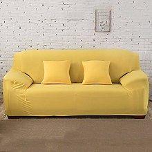 GNEHSL Printed Sofa Cover - Yellow Modern Stretch
