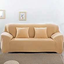 GNEHSL Printed Sofa Cover - Yellow Pure Color