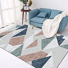 GNLK Bedroom Rug, Modern Colorful Triangle Polygon