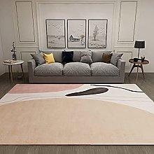 GNLK Bedroom Rug, Modern Khaki Abstract Geometric